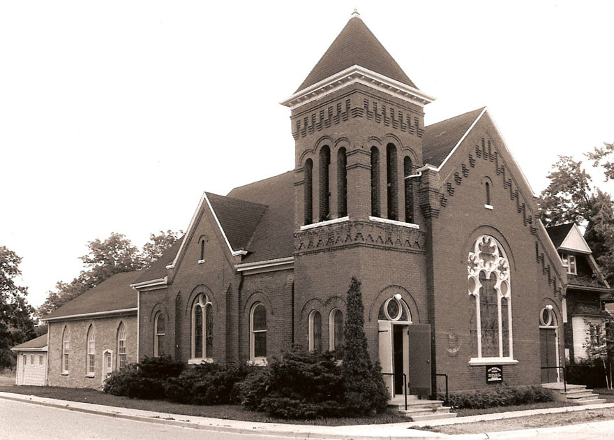 Knox church as it looked on the 150th anniversary in 1981.