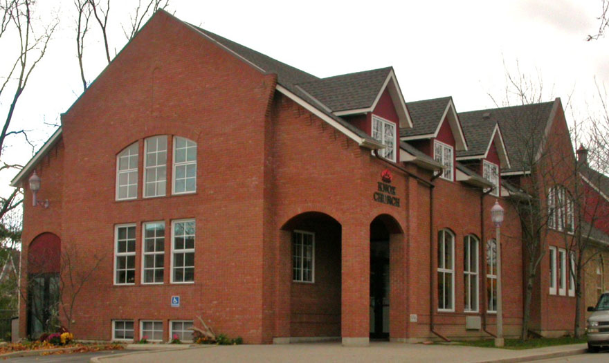 Large addition to Knox church Waterdown in 1997.